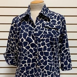 Lilly Pulitzer Giraffe Print Navy And White Dress